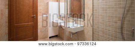 Contemporary Caramel Bathroom