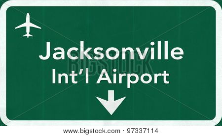 Jacksonville Usa International Airport Highway Road Sign