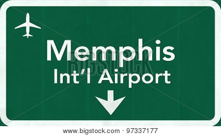 Memphis Usa International Airport Highway Road Sign