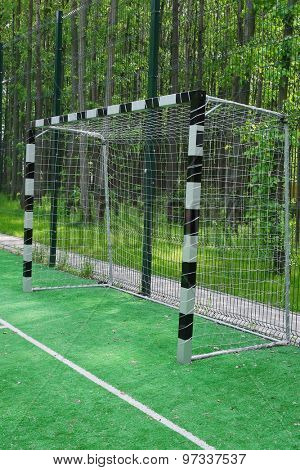 The image of a mini-football gates