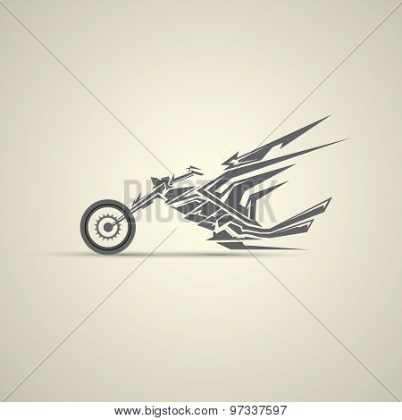 motorcycle label, badge. abstract motorcycle