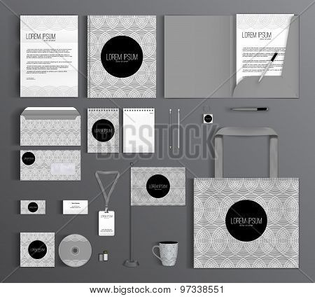 Corporate Identity. Set With A Pattern Of Circles.