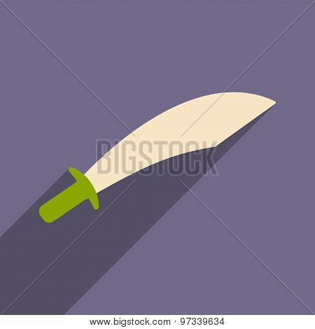 Flat with shadow icon and mobile application sword