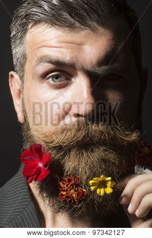 Guy With Flowerbed On Face