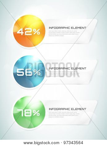 Vector banner infographic template. Processes presentation and information design, web structure, creative idea or paper, pattern, arrows, graph. Stock illustration. Design element