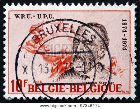 Postage Stamp Belgium 1974 Heinrich Von Stephan, General Post Di