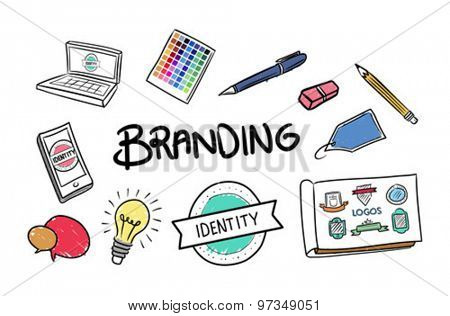 Digitally generated Branding brainstorm vector