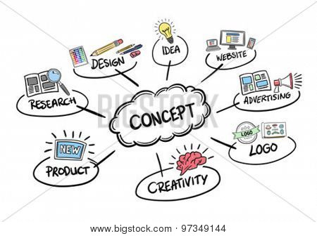 Product launch concept vector against white background