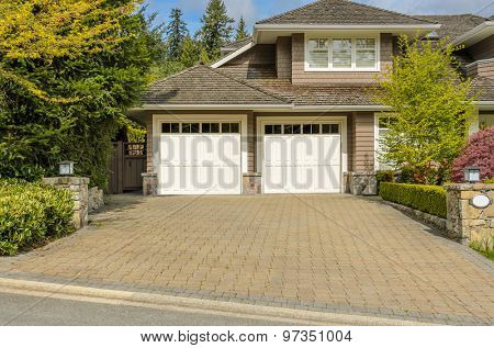 Garage door in Vancouver, Canada.