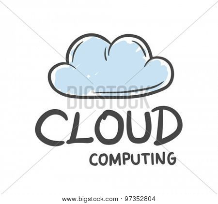 Digitally generated Cloud computing vector