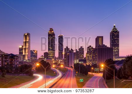 Atlanta Skyline During Twilight