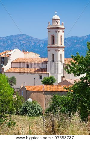 Bell Tower Of Piana, South Corsica, France
