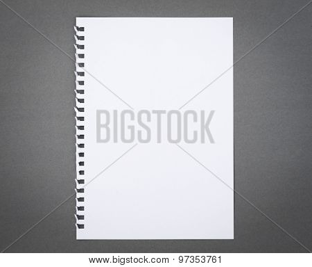 Blank notepad notebook paper