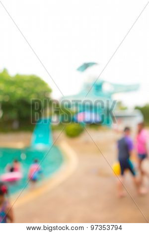 Abstract blur Swimming pool