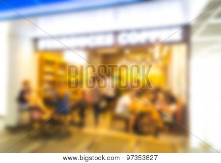 Coffee shop blur background
