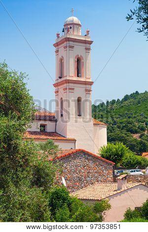 Small Corsican Town Vertical Landscape, Piana