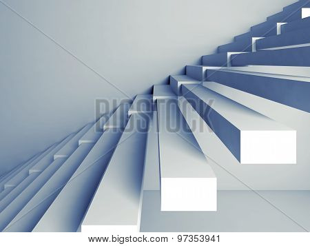 Stairs Installation On The Wall, 3D Interior