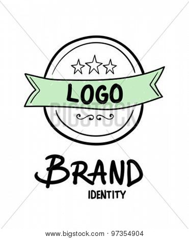 Digitally generated Brand identity concept vector