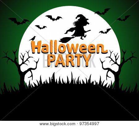 Halloween Party Background Green
