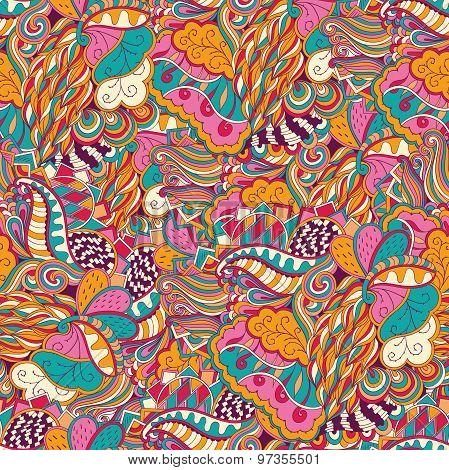 Mehndi tracery pattern, Seamless, handmade Natural mood. Fairgrounds mehendi pattern in style, used