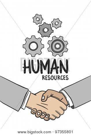 Digitally generated Human resources concept vector