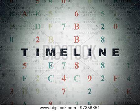 Time concept: Timeline on Digital Paper background