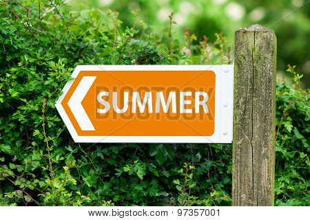 Direction Arrow, Sign To Summer In Orange Color