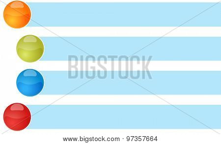 blank business strategy concept infographic diagram curved bullet list items illustration four 4