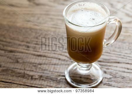 Glass Mug With Cappuccino
