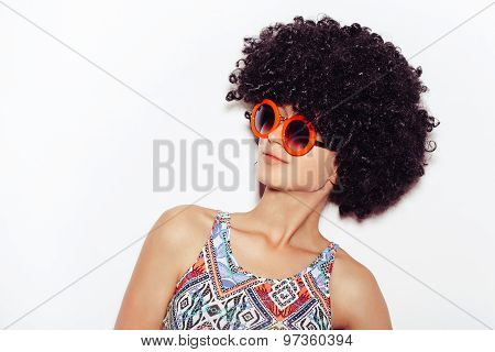 Funny Cute Woman White Background Not Isolated