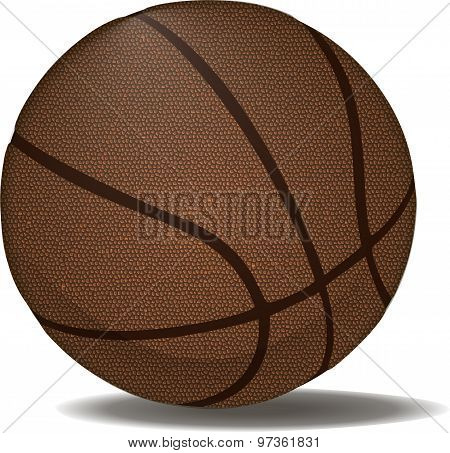 Leather Basketball Ball.