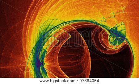 Rainbow Swirl Abstract Background