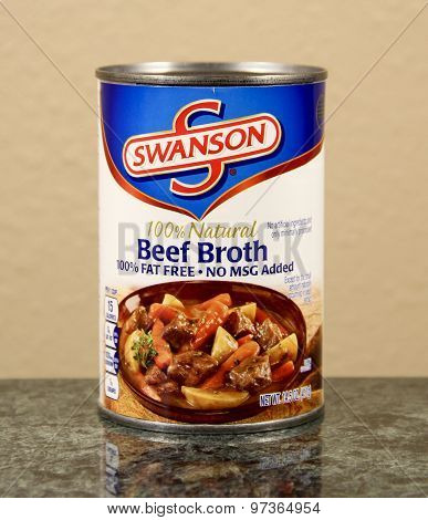 Can Of Swanson Beef  Broth Soup