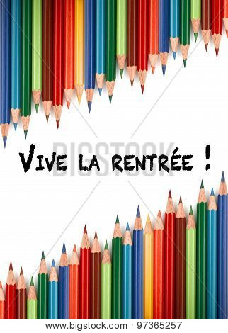 Multicolored Pencils For The Welcome Back To School