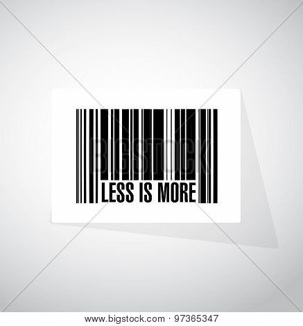 Less Is More Bar Code Sign Concept