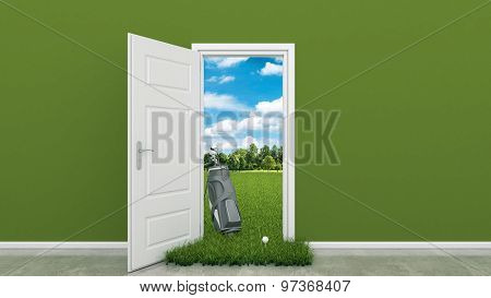golf course with door