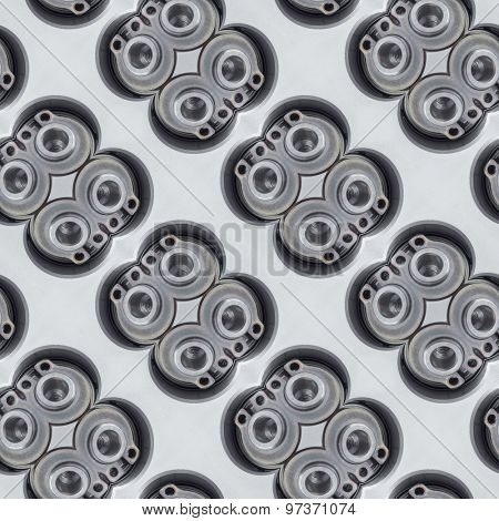 Abstract Automotive Valve Seamless Background pattern