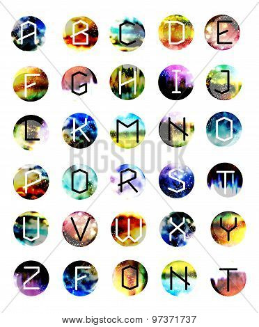 geometric font. Creative Alphabet. Typographic Set.