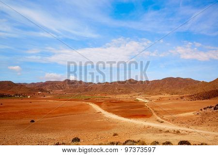 Almeria Playa de los Genoveses natural Park track in Spain