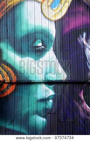 Street art Montreal goddess