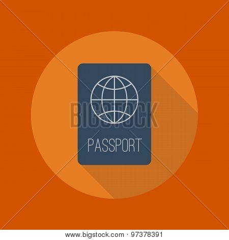 Travel Flat Icon. Passport
