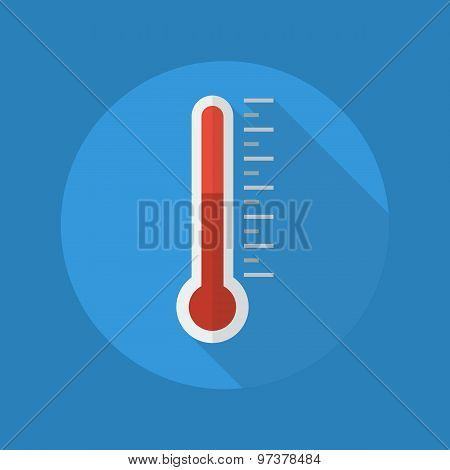 Weather Flat Icon. Thermometer