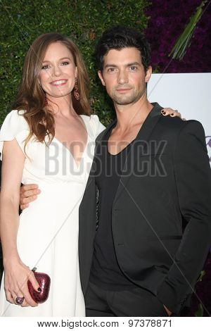 LOS ANGELES - JUL 29:  Rachel Boston, David Alpay at the Hallmark 2015 TCA Summer Press Tour Party at the Private Residence on July 29, 2015 in Beverly Hills, CA