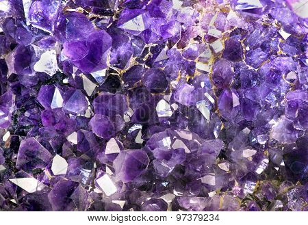 Closeup Of Amethyst Crystals..