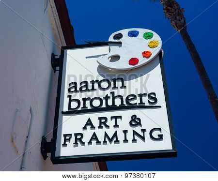 Aaron Brothers Art And Framing Store And Sign