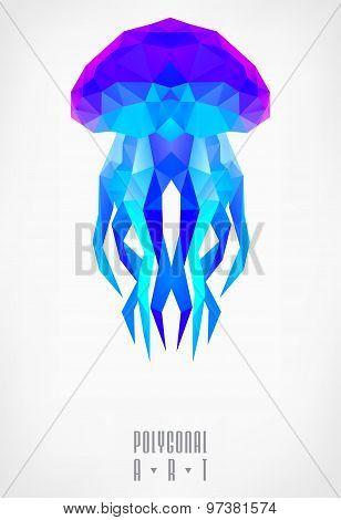 Abstract polygonal. Geometric illustration