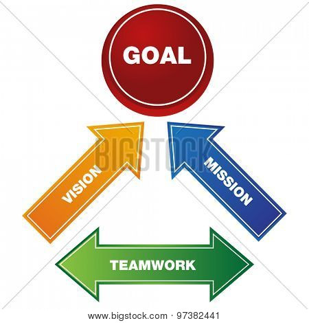 An image of a business goal icon.