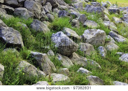 Rock With Green Grass