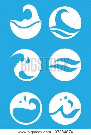Water Symbol Vector Design
