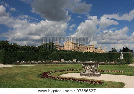 Castle Lednice with garden park